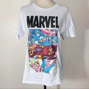 Marvel Shirts - Marvel Ironman Spider-Man Captain America T-Shirt